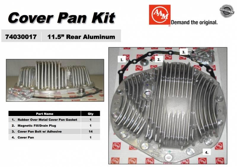 AAM 11 5 Aluminium Finned Differential Cover