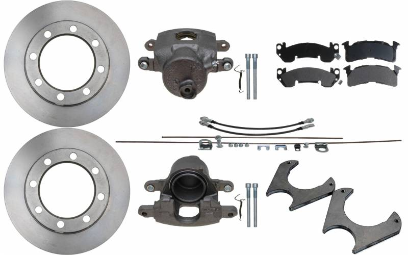70 Rear Axle Disc Brake Kit Conversion Brackets Universal Dana 60