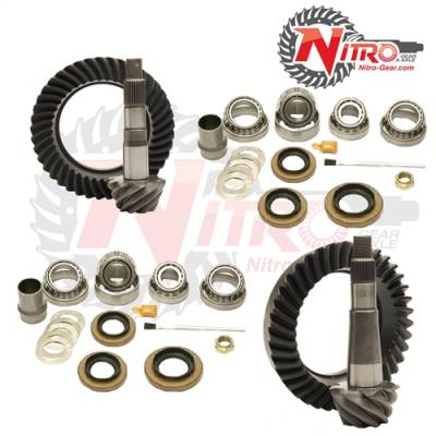 "Nitro Gear - 2000-2001 Jeep Cherokee XJ with Dana 30 Front & Chrysler 8.25"" Rear, 4.56 Ratio Gear Package Kit"