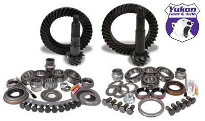 "Yukon Gear - Yukon Gear & Install Kit package for Jeep XJ with Dana 30 front and Chrysler 8.25"" rear, 4.56 ratio."