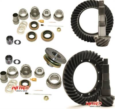 Nitro Gear - Toyota FJ Cruiser, 4-Runner, Prado 150 & Lexus GX460 with E-Locker, 4.56 Ratio, Nitro Front & Rear Gear Package Kit