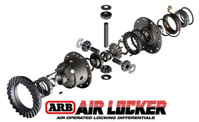 Dana 30 ARB RD100 Air Locker - 27 Spline - 3.73 and up Ratio - RD100 Exploded View